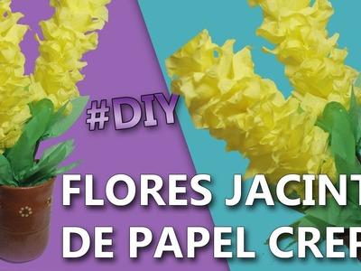 COMO HACER FLORES DE PAPEL CREPE FACILES Y BONITAS | Flores jacinto