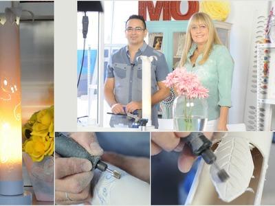 Como hacer una lampara artesanal   - Herramientas Dremel - Minitorno
