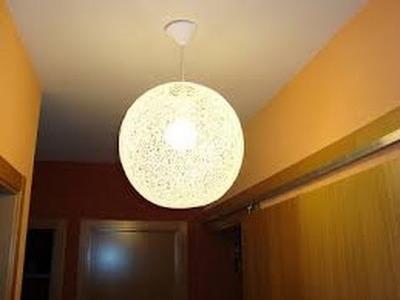 """Como hacer una """"lampara"""" de hilo bien fácil"""