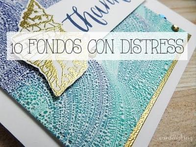 Diez fondos creativos con tintas Distress