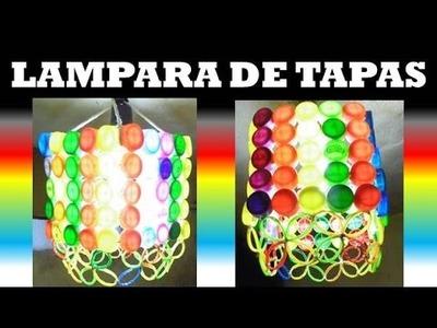 DIY :  Como Hacer una Lampara con tapas de botellas plásticas. CRAFTS