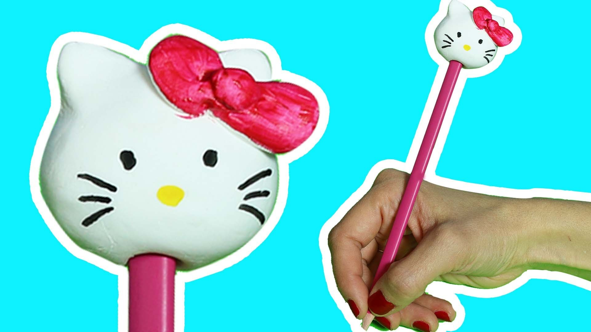 Hello Kitty   Cómo Hacer un Adorno de Lápices   Boya Boya Pinta Pinta   Cómo Dibujar