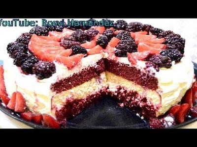 Pastel sin Horno Red Veltet y cheesecake.Cake Red velvet |ROSVI HERNANDEZ