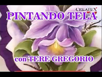 PINTANDO TELA CON TERE GREGORIO