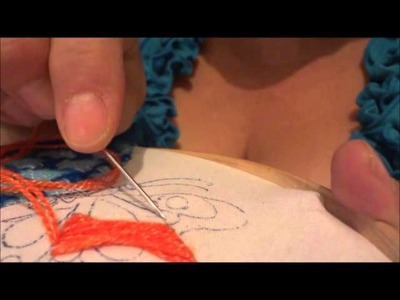 Bordado fantasia cuerpo y alas de mariposa naranja marimur 388