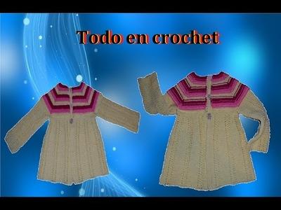 Chambrita. suéter.chompa de doble vista en crochet, fácil y rápido Parte 2