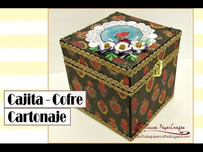Cómo hacer un Cofre de Cartón Fácil - Tutorial DIY Cartonaje | Luisa PaperCrafts
