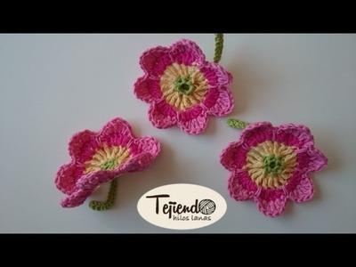 Flores a ganchillo -1-