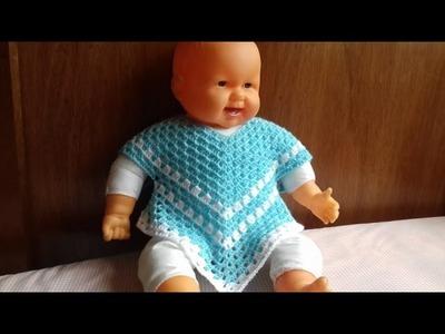 Poncho blusa para niña parte 1( todas las tallas)