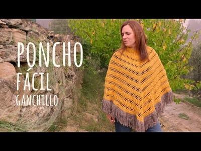 Tutorial Poncho Fácil y Rápido Ganchillo   Crochet