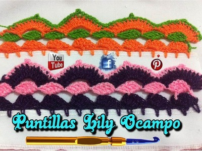 # 2 PUNTILLA U ORILLA DE DOS COLORES--PUNTILLAS LILY OCAMPO