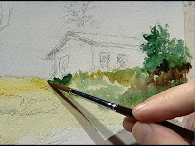 Arcadio paints the little house of his grandmother 1. La pequeña casa de mi abuela 1.