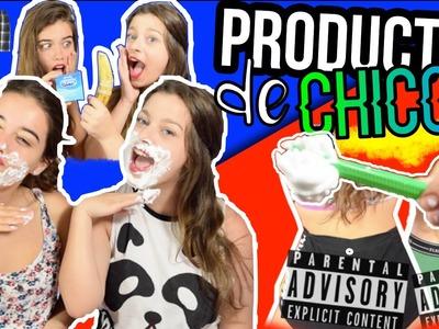 CHICAS probando PRODUCTOS de CHICOS   Rachel Tisdale