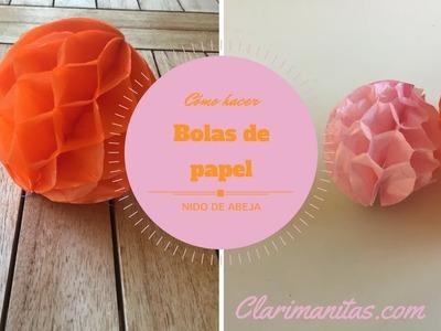Como hacer bolas de papel