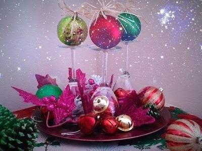 Como hacer un adorno para Navidad, adorno de mesa