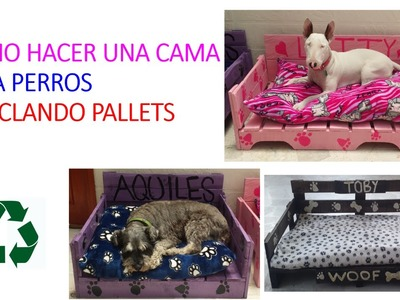 COMO HACER UNA CAMA PARA PERROS CON PALLETS. MAKE A DOG BED OUT OF PALLET WOOD