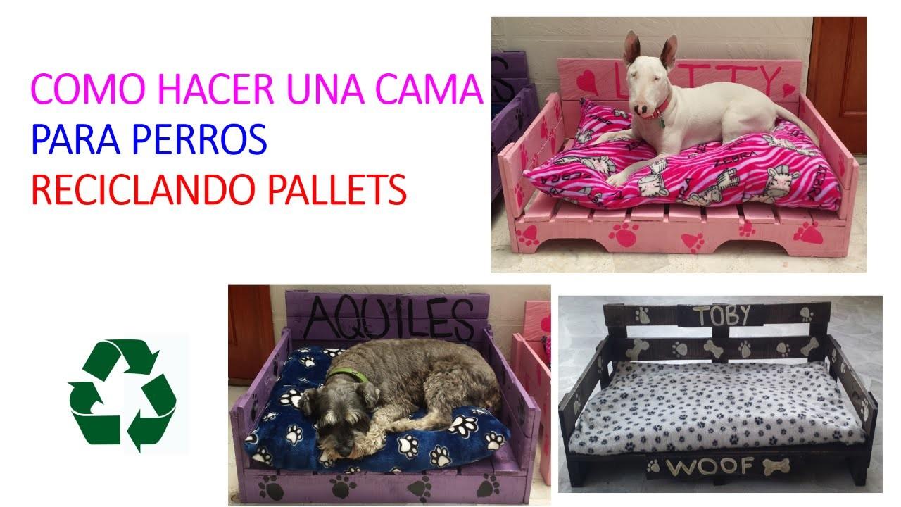Como hacer una cama para perros con pallets make a dog - Como hacer una cama para perro ...