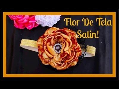 Como Hacer Una Flor De Tela Satin  Flor Quemada