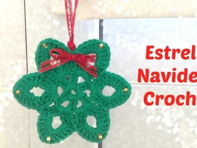Estrella de navidad a crochet