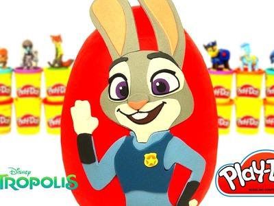 Huevo Sorpresa Gigante de Zootopia de Judy Hopps en Español Plastilina Play Doh