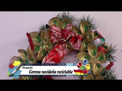 Manualidad: Corona Navideña Reciclable- Hogar Tv  por Juan Gonzalo Angel