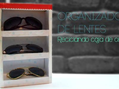 Organizador de Lentes ♔ Reciclando Caja de Cereal ♡ Bruja Creativa