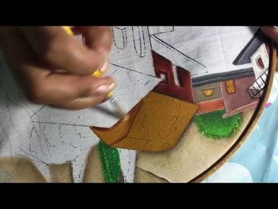 Pintura En Tela Casitas # 6 Con Cony