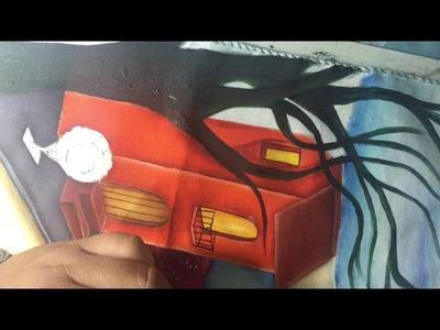 Pintura En Tela Casitas # 8 Con Cony