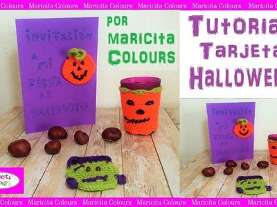 Tarjeta Invitación para Halloween por Maricita Colours Tutorial