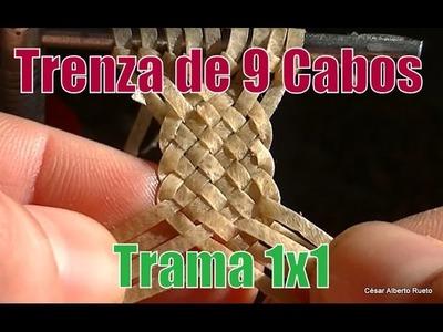"""Trenza de 9 -  Trança nove(trama 1x1) """"El Rincón del soguero"""""""