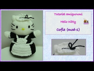 Tutorial amigurumi Hello Kitty - Cofia (mod-1)