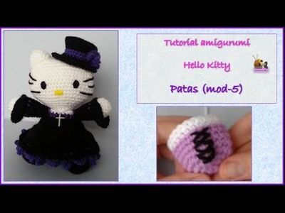 Tutorial amigurumi Hello Kitty - Patas (mod-5)