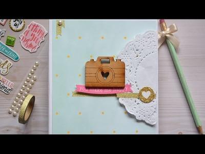 TUTORIAL FÁCIL mini álbum bonito scrapbook. decoración - scrapbook en español ✄ Dulce Scrap