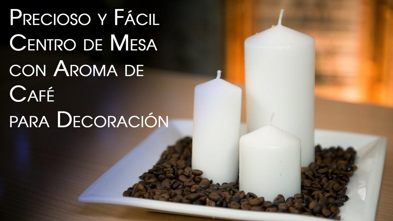 Velas de Cafe y Centro de Mesa - Coffee Candles