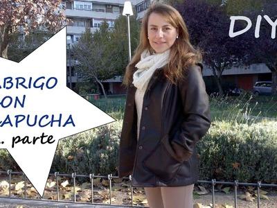 Abrigo con capucha, 2ª parte: Coat with hood by patronesmujer.com