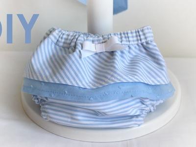 Braga pañal con volantes. Costura de bebés.
