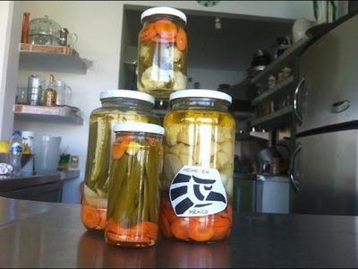 Cómo hacer CHILES EN VINAGRE envasados para conserva.