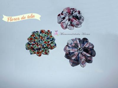 Como hacer flores de tela