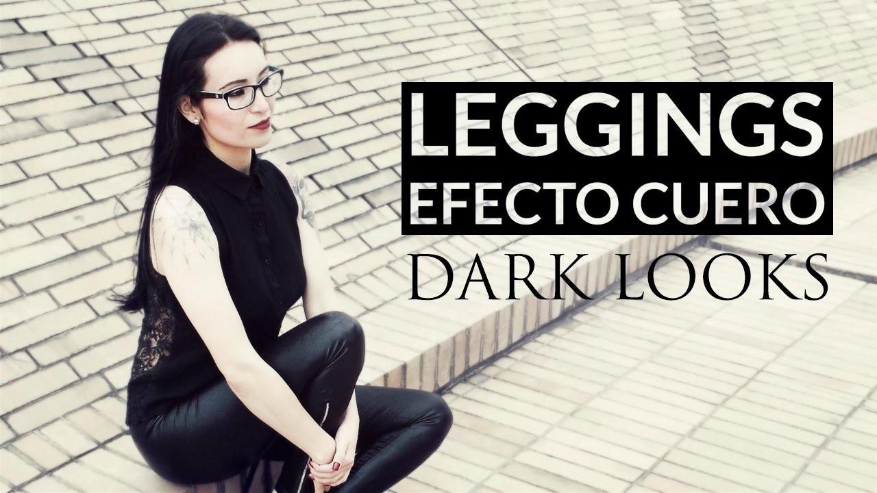 DIY Cómo hacer leggings fácil sin patrones - Efecto cuero o en encaje