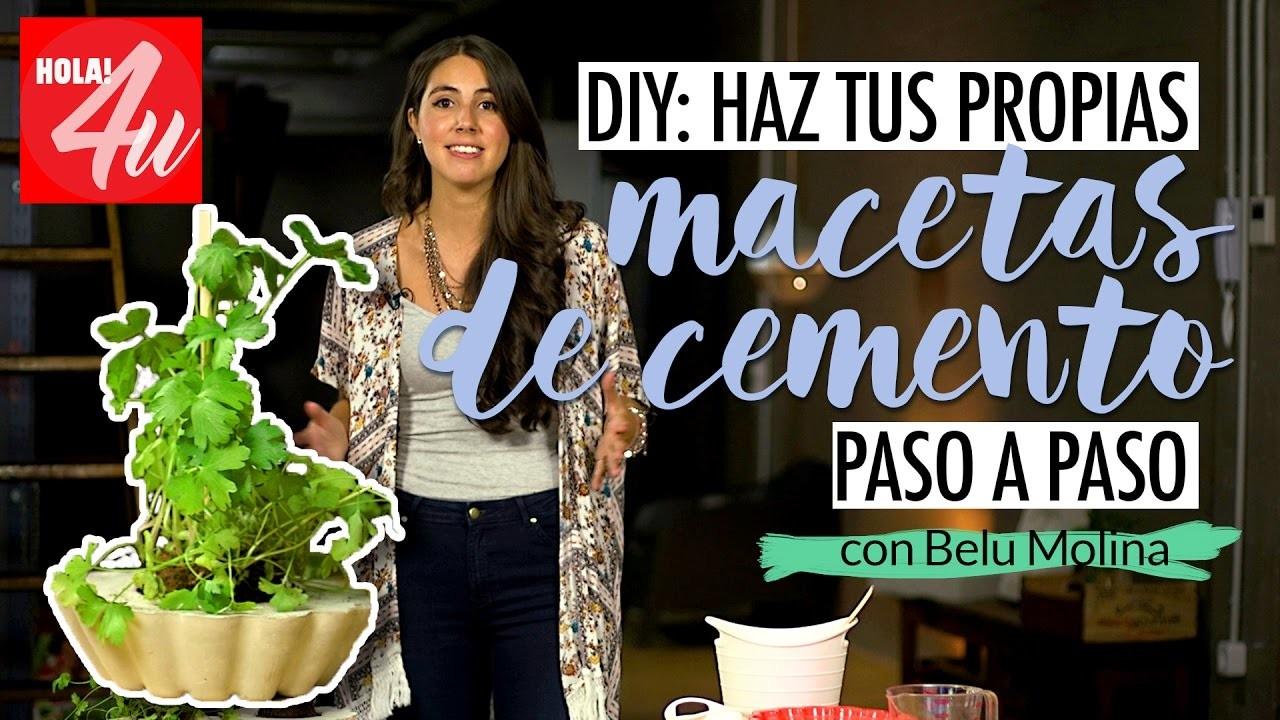 DIY: Haz tus propias macetas de cemento paso a paso   Belu Decó con Belu Molina