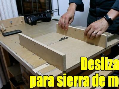 DIY Sierra de banco Parte 5.6 - Deslizador sierra circular de mesa