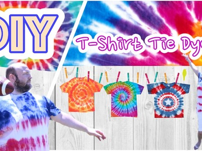 DIY Tie Dye Shirts. DIY camisetas.4th of july.american flag by WendyLou