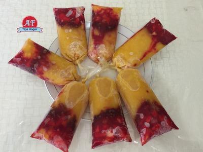 Helados de mango con chamoy  tipo mangoneada