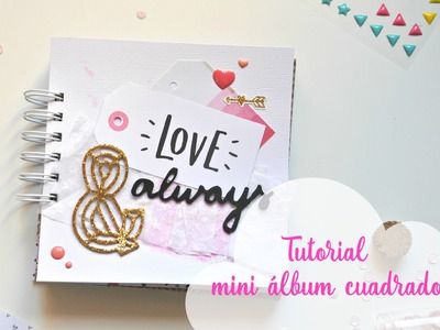 Tutorial mini álbum scrapbook encuadernado con Cinch | Album romántico | Regalo para mi novio