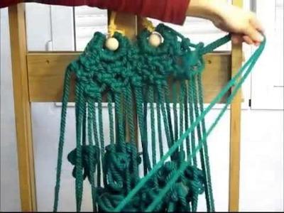 Tutorial para hacer una rana de cuerda en macramé PARTE 1)
