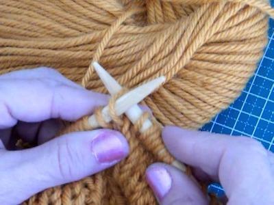 Como aumentar puntos tejiendo a dos agujas