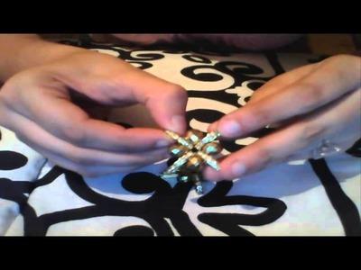 Como hacer las estrellas o flores para sandalias de cristal