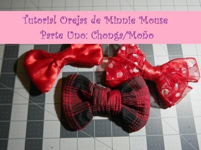 ¿Cómo hacer orejas de Minnie? Parte 1: La Chonga.Moño