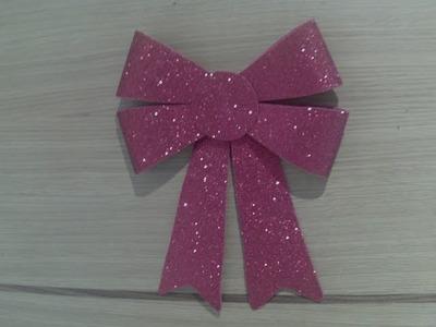 Como hacer un lazo navideño para decorar tu puerta con plantilla para descargar