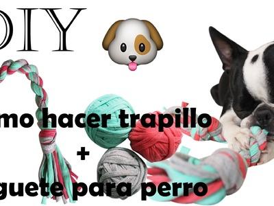 DIY ♥ Como hacer trapillo + juguete para perro fácil ♥ Reciclaje